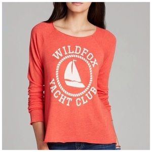 WIldfox Orange Yacht Club Long Sleeve Size Large